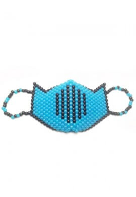 Blue Glow in the Dark Ninja Mask