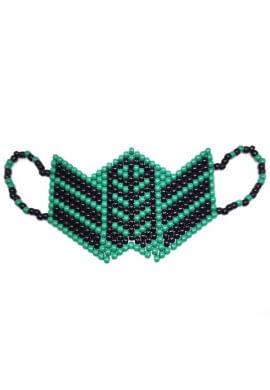 Green Reptile Kandi Mask
