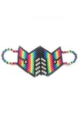 Neon Rainbow Subzero Kandi Mask
