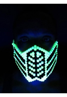 Glowing Reptile Kandi Mask