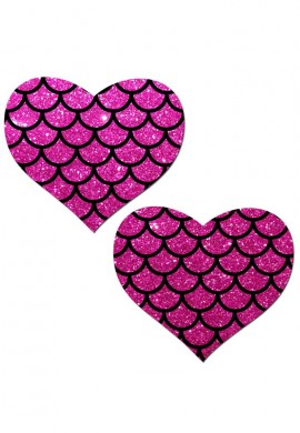 Pink Mermaid Heart Pasties
