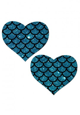 Turquoise Mermaid Heart Pasties