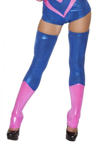 Blue and Pink Thigh Highs