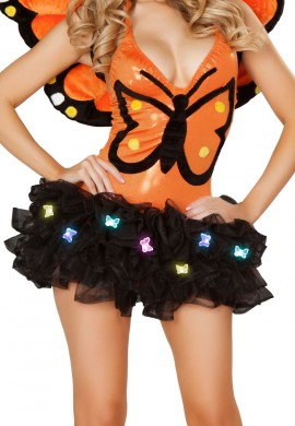 Black Butterfly Light Up TuTu