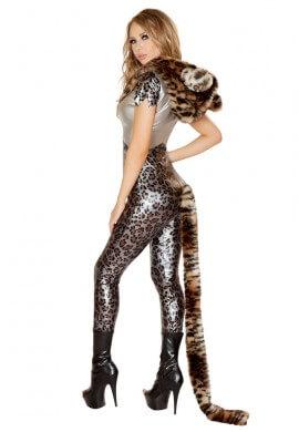 Silver Leopard Bodysuit Costume