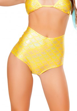 Lemon High Waisted Mermaid Shorts