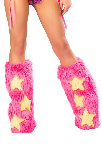 Pink and Yellow Stars Fluffies