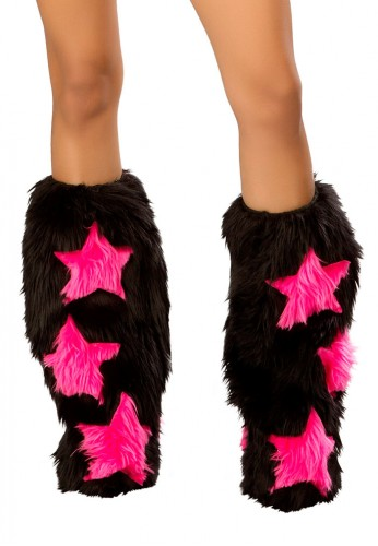 Black and Pink Stars Fluffies