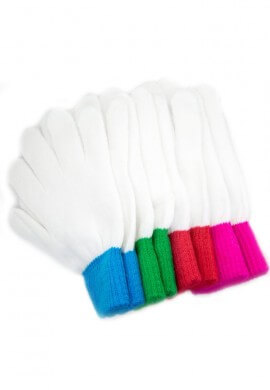 LEDGloves Colored Wrist Gloves