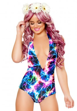 Rainbow Lightning Light Up Halter Romper