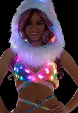 Pastel Tie Dye Light Up Wrap Halter