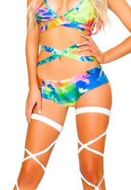 Tie Dye Light Up Shorts