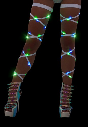 Green and Blue Light Up Leg Wraps