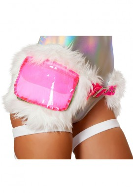 White and Pink Fanny Pack