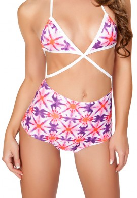 Kaleidoscope High Waist Shorts