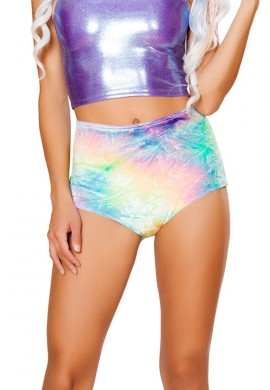 Pastel Tie Dye High Waist Shorts