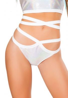 Silver Twinkle Wrap Shorts