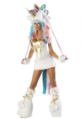 Unicorn Corset, Skirt and Tail Set