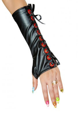 Black Magic Laced Gloves