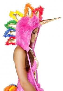 Pink Unicorn Hood