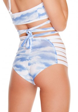 Clouds High Waist Strappy Shorts