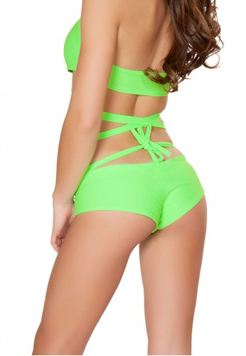 Neon Green Basic Booty Shorts