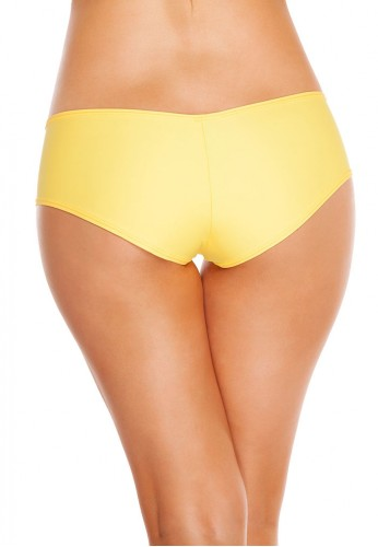 Yellow Basic Booty Shorts