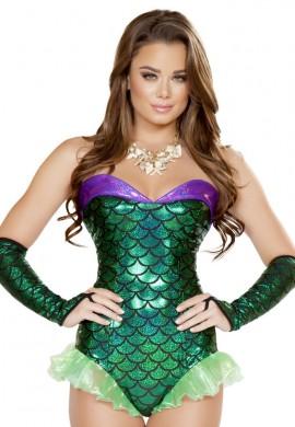 Green Mermaid Romper