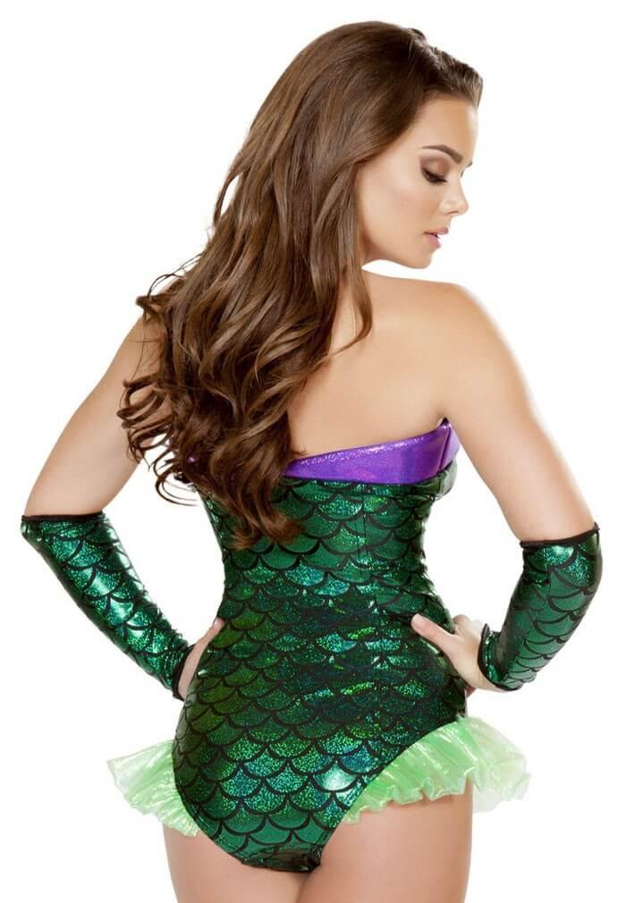 Green Mermaid Romper Festival Rompers At Raveready
