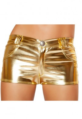 Gold Metallic Hot Pant Shorts