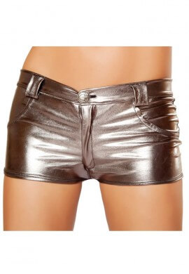 Gunmetal Metallic Hot Pant Shorts
