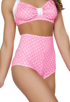 Pink Polka Dot High Waisted Shorts