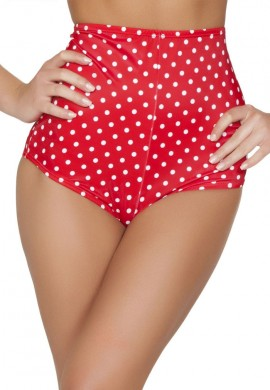 Red Polka Dot High Waisted Shorts