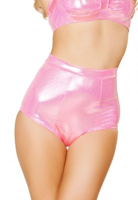 Metallic Pink High Waisted Shorts