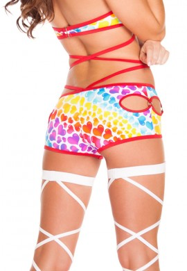 Hearts Cut Out Shorts