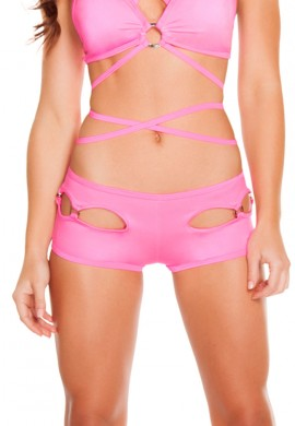 Pink Cut Out Shorts