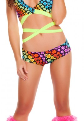 Trance Flowers Low Rise Shorts