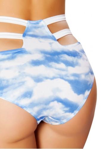 Cloud High Waist Strapped Shorts