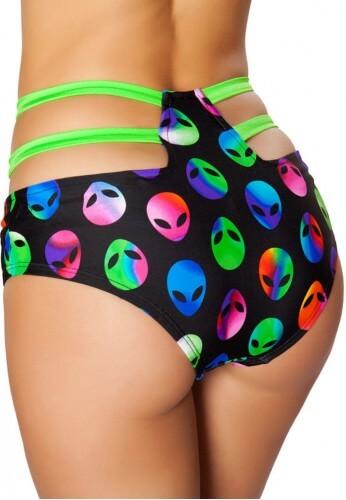 Alien High Waist Strapped Shorts