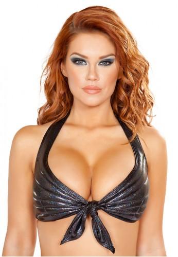 Black Mermaid Tie Top