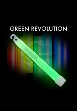 """10 Pack - 6"""" High Intensity Green Glowstick"""