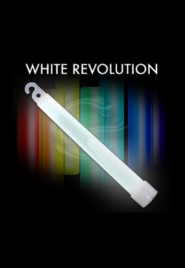 "10 Pack - 6"" High Intensity White Glowstick"