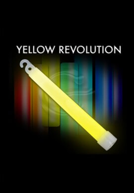 "10 Pack - 6"" High Intensity Yellow Glowstick"