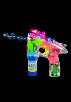 Light Up LED Bubble Gun