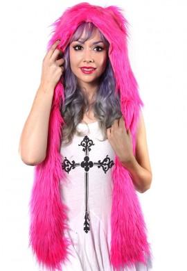 Pink Fur Hoodie