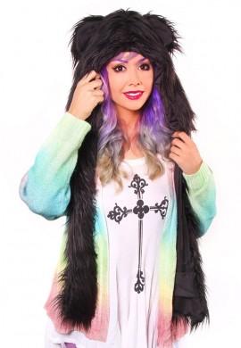 Black Fur Hood