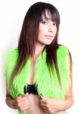 Lime Green Fur Vest