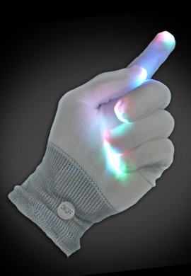 Multicolored LED Gloves
