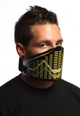 Yellow EQ Curve LED Mask