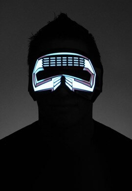 Red M2 Light Up Face Mask